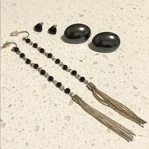 Jewelry - Lot of 3 Black Earrings